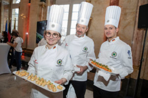 The German National Culinary Teams presented finger food and set culinary accents. Credit: Messe Stuttgart
