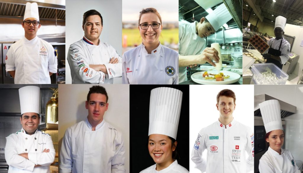 What inspires young chefs from the four corners of the world?