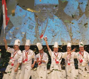 In the 2020 Olympic year international teams of chefs fight for victory in Stuttgart over four days. The total number of points decides who stands on the winner's podium. Photo: VKD/IKA/Culinary Olympics