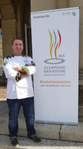 "Gergő Balázs, team captain of the Hungarian Military Culinary Team, is looking forward to his fourth IKA participation: "" It is our dream to win the gold medal"". Photo: Hungarian Military Culinary Team"