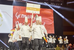 The German teams during the parade of the nations. Photo: IKA/Culinary Olympics