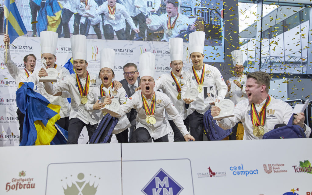 Sweden is the Olylmpic champion of the IKA 2020 in the junior teams category. Photo: IKA/Culinary Olympics