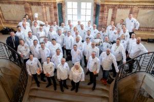 Vertreter internationaler Köche-Nationalmannschaften aus unter anderem Japan, Kanada, Schweden, Tschechien, Dänemark, Österreich, Schweiz und USA kamen zur Auslosung nach Stuttgart. Foto: Messe Stuttgart