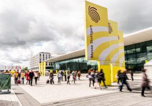 Mit den beiden Fachmessen INTERGASTRA und GELATISSIMO sowie der IKA/Olympiade der Köche finden drei Großveranstaltungen zeitgleich auf dem Gelände der Landesmesse Stuttgart statt. Dies erfordert eine sorgfältige und perfekt getaktete Planung und Vorbereitung aller Prozesse – insbesondere der Logistik. Bildquelle: Messe Stuttgart