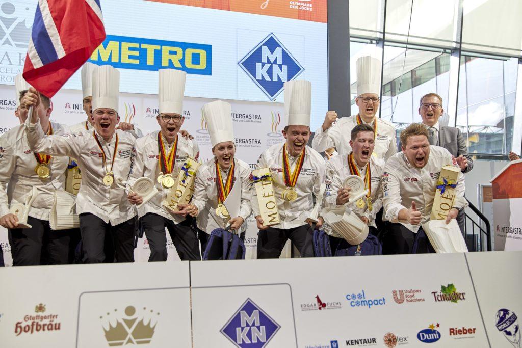Norwegen gewann in der Kategorie Nationalmannschaften Gold. Foto: IKA/Culinary Olylmpics